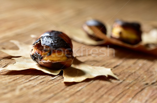 roasted chestnuts, typical snack in All Saints Day in Catalonia, Stock photo © nito