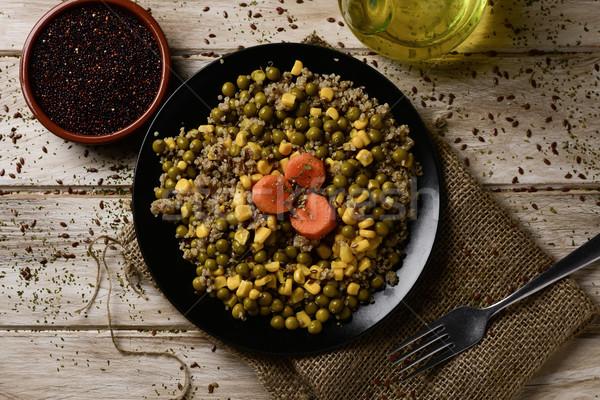 quinoa salad, with corn, peas and carrot Stock photo © nito