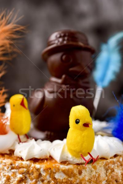 mona de pascua, cake eaten in Spain on Easter Monday Stock photo © nito