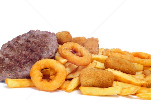 Hiszpanski tuczący żywności frytki biały gotować Zdjęcia stock © nito
