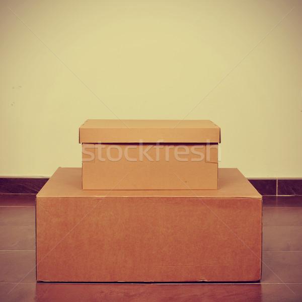 cardboard boxes Stock photo © nito