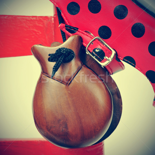 castanets and flamenco shoes Stock photo © nito