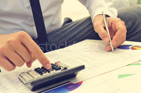 young man checking accounts Stock photo © nito
