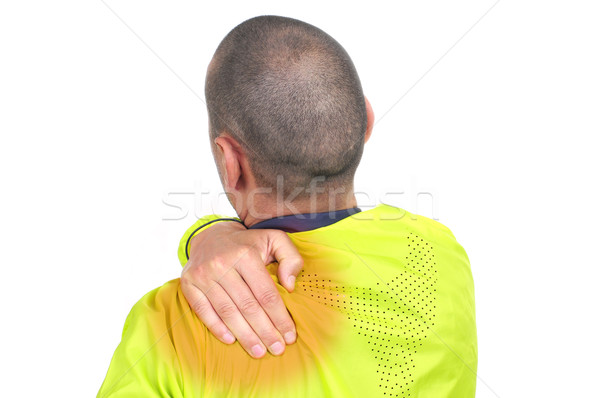 young sportsman with backache Stock photo © nito