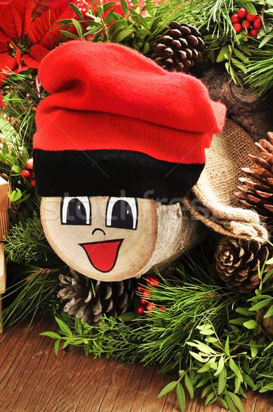 Tipik İspanya Noel karakter hediyeler doğal Stok fotoğraf © nito