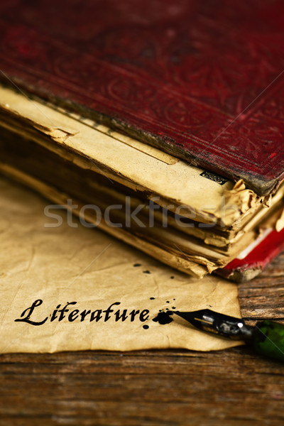 text literature written with a dip pen Stock photo © nito