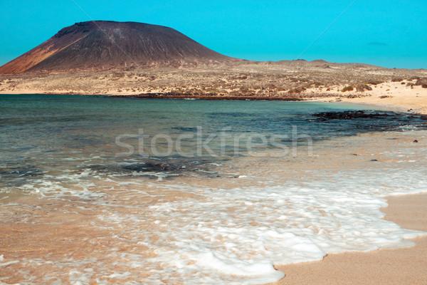 LA tengerpart Kanári-szigetek Spanyolország kilátás sziget Stock fotó © nito