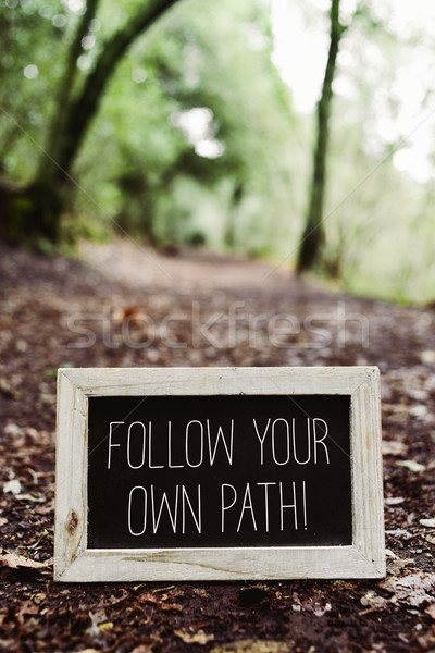 text follow your own path Stock photo © nito