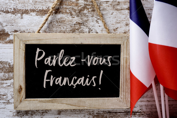 text parlez-vous francais? do you speak French? Stock photo © nito