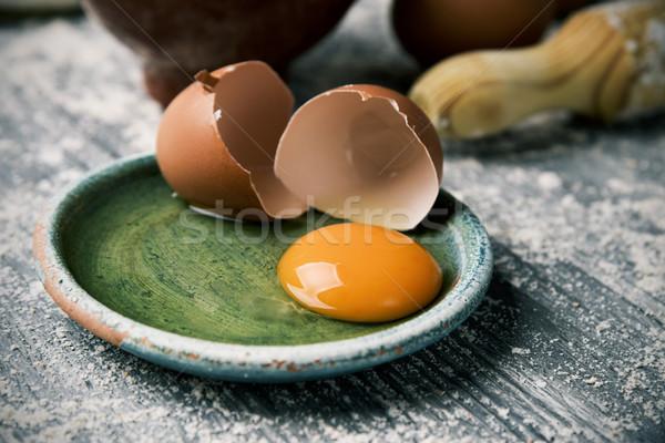 яйцо скалка мучной треснувший зеленый Сток-фото © nito