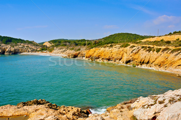 ホーム ビーチ スペイン 表示 砂 波 ストックフォト © nito