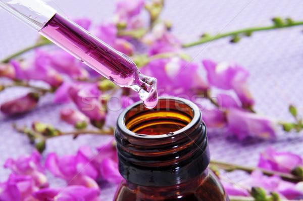 Természetes közelkép cseppentő üveg köteg lila Stock fotó © nito
