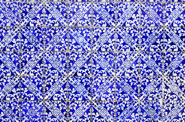 old portuguese mosaic background Stock photo © nito