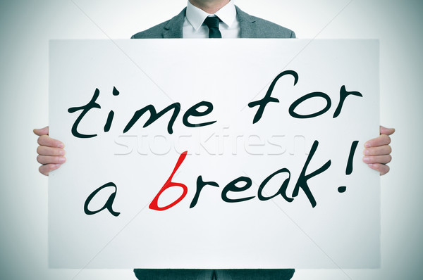 time for a break Stock photo © nito