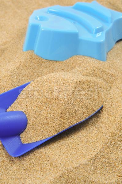 игрушку лопатой песок плесень синий пляж Сток-фото © nito