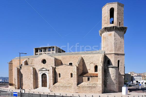 Templom Marseille Franciaország kilátás óváros épület Stock fotó © nito