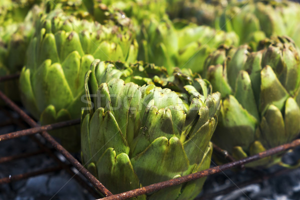 artichokes being grilled in the barbecue Stock photo © nito