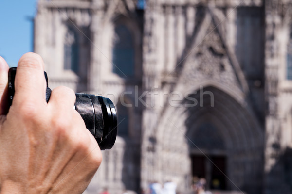 画像 バルセロナ 大聖堂 スペイン クローズアップ ストックフォト © nito