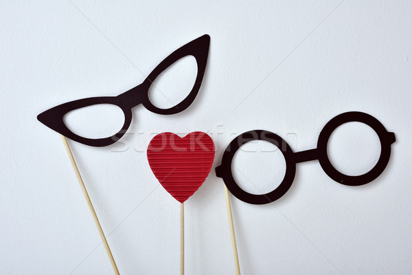heart and glasses for men and for women Stock photo © nito