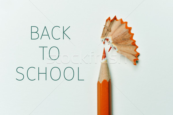 pencil, shavings and text back to school Stock photo © nito