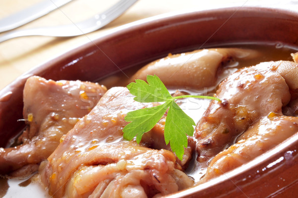manitas de cerdo, stewed pig feet typical of Spain Stock photo © nito