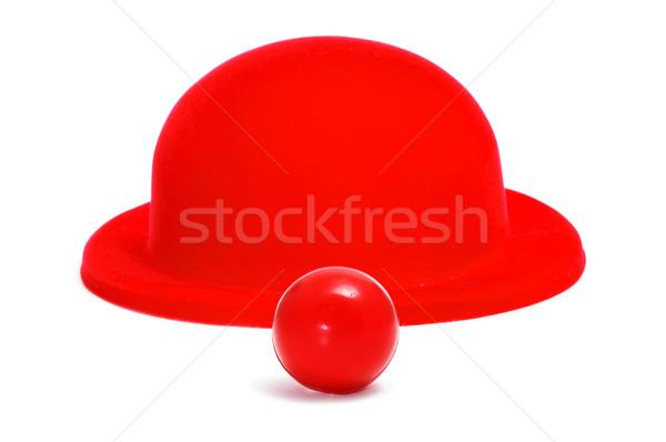 клоуна носа красный вечеринка счастливым Сток-фото © nito