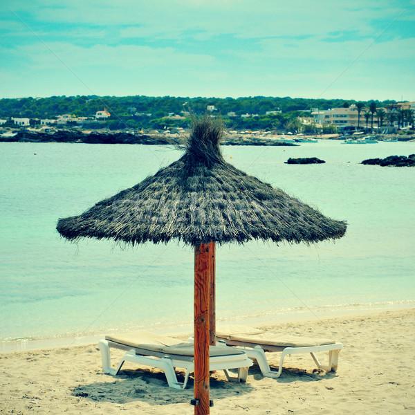 Es Pujols Beach in Formentera, Balearic Islands, Spain Stock photo © nito
