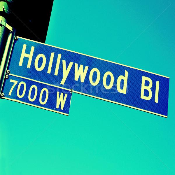 Сток-фото: Голливуд · знак · Соединенные · Штаты · город · улице