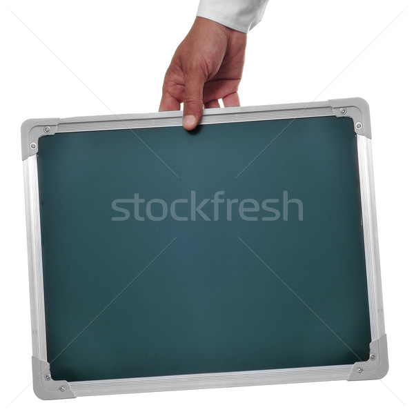 Férfi tart üres tábla copy space iroda terv Stock fotó © nito