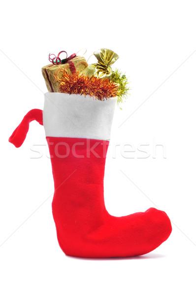 santa claus sock full of gifts Stock photo © nito