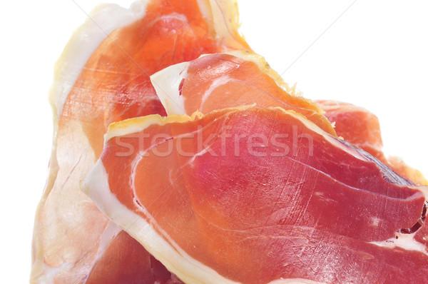 Serrano sonka tapas közelkép spanyol étel Stock fotó © nito