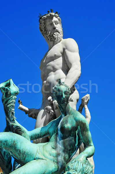 Fountain of Neptune in Florence, Italy Stock photo © nito