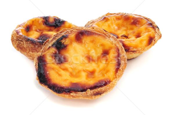 pasteis de nata, typical Portuguese egg tart pastries Stock photo © nito