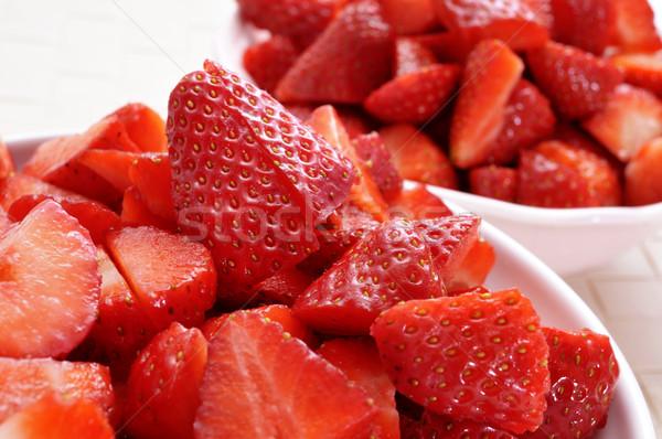 chopped strawberries Stock photo © nito