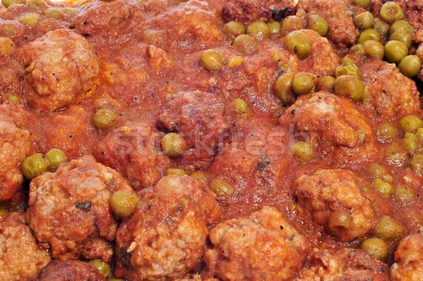 スペイン語 ミートボール シチュー クローズアップ 健康 レストラン ストックフォト © nito