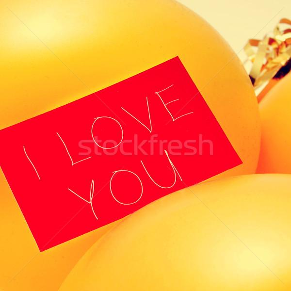 Tekst miłości filtrować efekt napisany czerwony Zdjęcia stock © nito