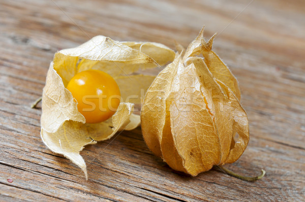 groundcherries on a wooden surface Stock photo © nito