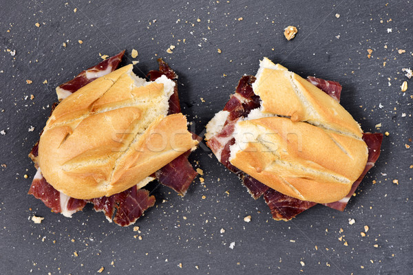 Espagnol serrano jambon sandwich coup coupé Photo stock © nito