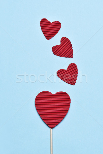 red hearts on a blue background Stock photo © nito