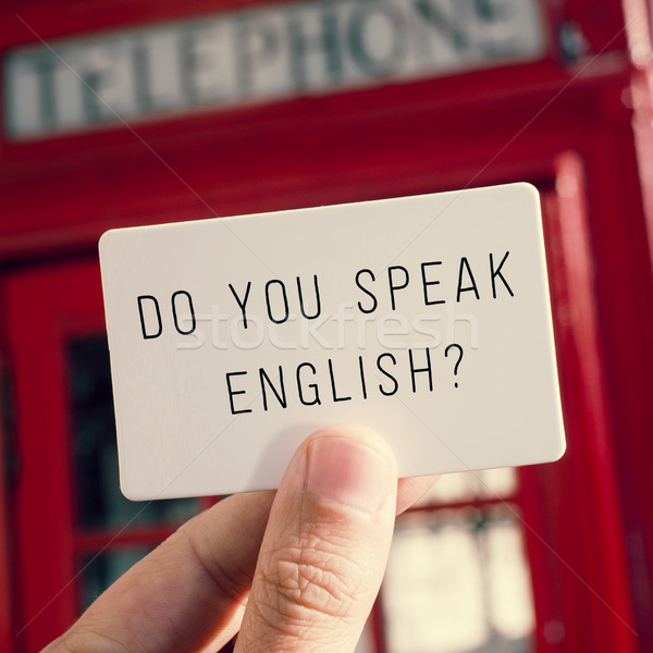do you speak english? in a signboard Stock photo © nito
