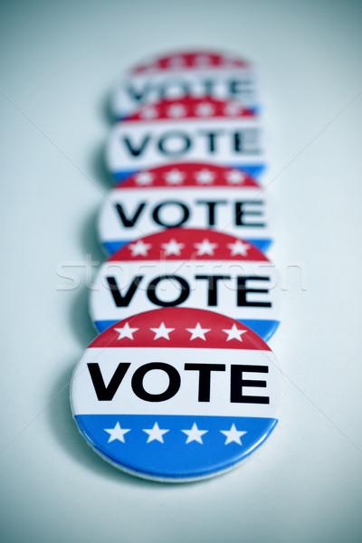 バッジ 米国 選挙 言葉 投票 書かれた ストックフォト © nito