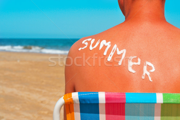 summer on the beach Stock photo © nito