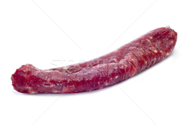 fuet, spanish cured sausage typical of Catalonia Stock photo © nito