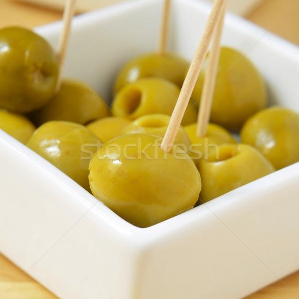 Espagnol olive tapas bol olives servi Photo stock © nito