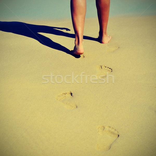 summer on the beach with a retro effect Stock photo © nito