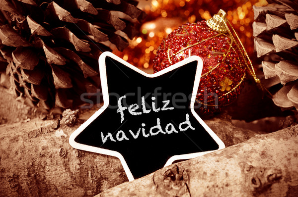 feliz navidad, merry christmas in spanish Stock photo © nito