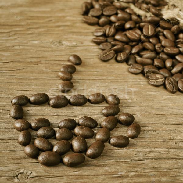 Pörkölt kávé forma csésze kávé köteg Stock fotó © nito