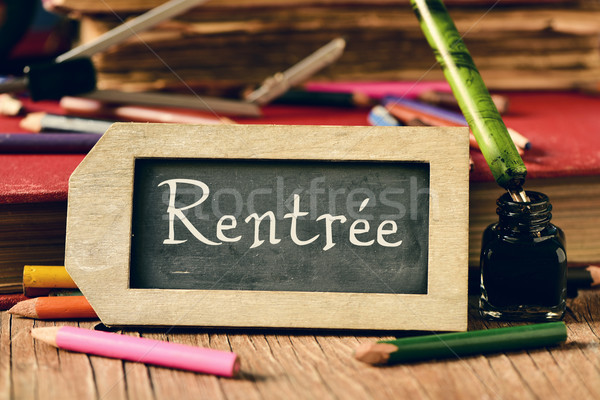 text rentree, back to school in french Stock photo © nito