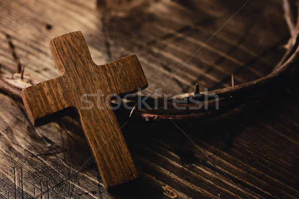 cross and crown of thorns of Jesus Christ Stock photo © nito