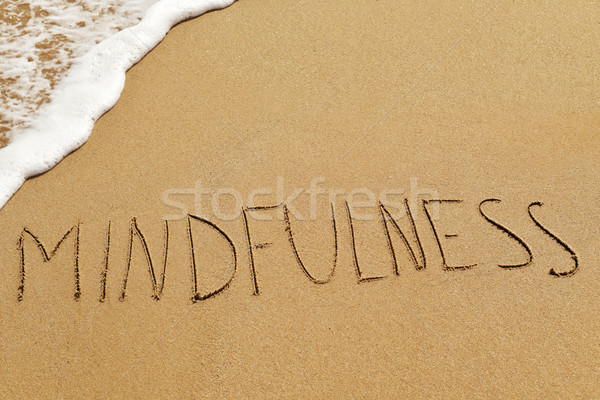 word mindfulness in the sand Stock photo © nito